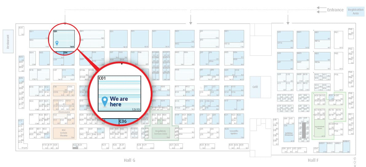 Location of ReAgents stand at Chemspec Europe 2014