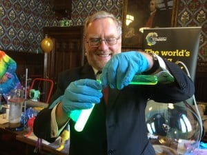 A glowing experiment at the Houses of Parliament