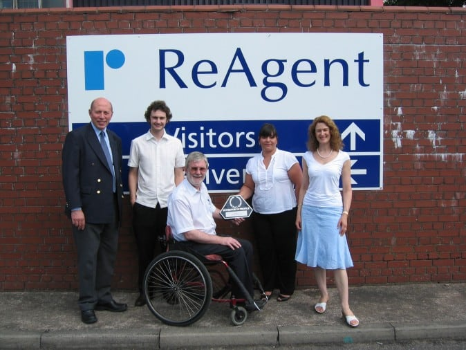 ReAgent receiving our 'Investors in People' accreditation