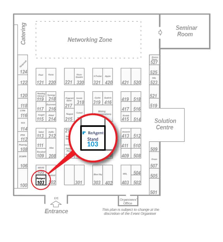 Floor Plan of the event showing our stand