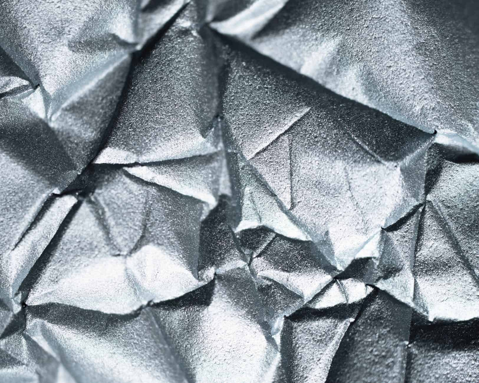 Crumpled sheet of silver