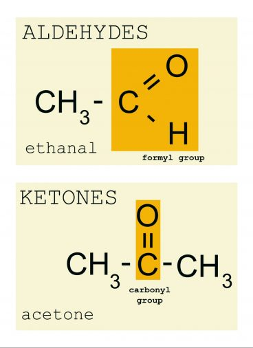 Functional groups of aldehyde and ketone